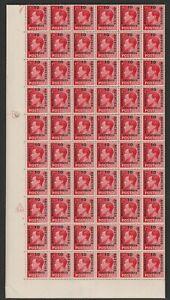 Sp.M. Agencies 1936 KE VIII 1d Scarlet in complete sheet of 240 SG 161 Mnh.