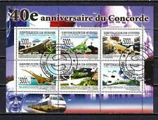 Avions Guinée (66) série complète de 6 timbres oblitérés