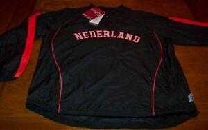 NETHERLAND NETHERLANDS WORLD BASEBALL STITCHED JACKET 2XL XXL NEW w/ TAG