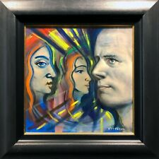FRANK McFADDEN SCOTTISH ARTIST ORIGINAL OIL PAINTING PETER HOWSON INTEREST