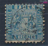 Baden 14b Pracht gestempelt 1862 Wappen (8100648