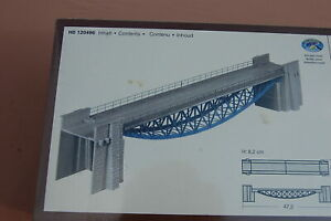 FALLER 120496, H0,  kit de Puente de vientre de pez, vía única, 47,2 cm, nuevo