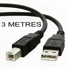 3 metre USB 2.0 Printer cable CANON PIXMA MG5150 MG5200 MG5250 MG5300 or MG5350