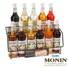 NEW Monin Coffee & Cocktail 70cl Glass Syrup Flavours & Pump - AS USED BY COSTA