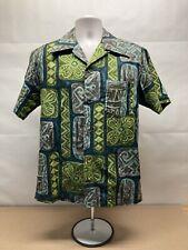 New listing Vintage 1960'S Miki Tiki Pattern Cotton Hawaiian Shirt Loop Collar