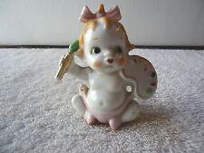 "Vintage Ceramic Baby Sitting Figurine Holding Paint Brush And Pallete "" RARE ITE"