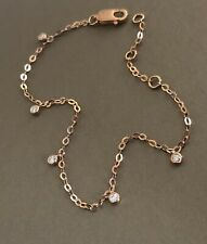 9ct Rose Gold Solitaire Diamond Eternity Bracelet 0.15ct By Yard Charm
