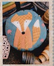 PATTERN - Frankie Fox Pincushion KIT - applique sewing accessory PATTERN