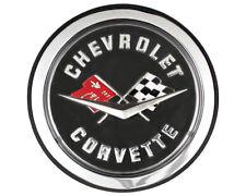 NEW Trim Parts Rear Crossed-Flag Emblem Logo / FOR 1962 CHEVY CORVETTE / 5087AS