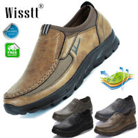Men's Leather Casual Dress Work Shoes Business Nonslip Loafers Driving Moccasin