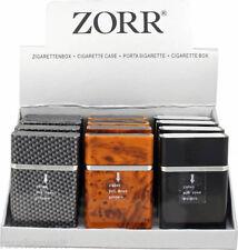 Edle Zigaretten Box Etui Dose in Carbon Wurzelholz Schwarz Design  Akionspreis