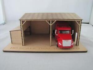 Trackside Models - HO Scale - Laser Cut Tractor Shed - SM1007