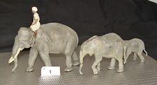 Lineol Elefanten Gruppe mit Mahout vor 1945