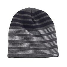 Genuine Subaru Variegated Stripe Beanie Black Gray Hat Impreza STI WRX Ski Snow