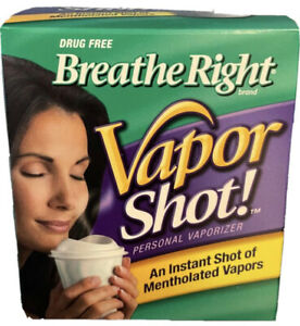 NEW Breathe Right Vapor Steam Liquid Personal Cup 8 Count (Pack Of 3) Shot