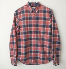 Denim & Supply~Plaid~Sz S~Ralph Lauren~Classic~Faded~Vintage~Red~Blue~100%Cotton