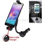 Car Cigarette Lighter Dual Micro USB Port Charger Mount Holder For Mobile Phones