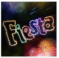 """""""Fiesta"""" Party Sign Summer Decor Outdoor LED Lighted Decoration Steel Wireframe"""