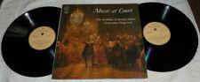Music At Court Christopher Hogwood Gatefold Double LP**
