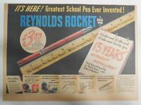 Reynolds Pen Ad: Reynolds 15 Year Rocket Ball Pen from 1946 Size 11 x 15 inches