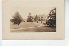 Real Photo Postcard Beginning of Path to Entrance  of Rest House Swansea MA