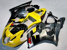 Yellow w/ Black Fairing Bodywork Injection For 2003-2004 04 Suzuki GSXR 1000 K3