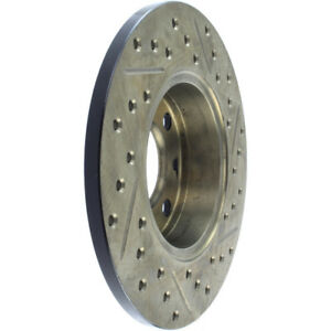 Disc Brake Rotor-Sport Cross-Drilled and Slotted Front/Rear-Right Stoptech