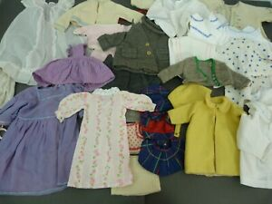 Large collection lot of vintage doll clothes inc hats dresses coats - 40+ items