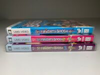 Bundle Job Lot x3 Sony PSP UMD Video Boxed THE MIGHTY BOOSH SERIES 1 2 3