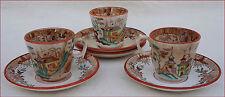 Tasses Café Sous-tasses Kyoto Digoin Sarreguemines XIX siècle