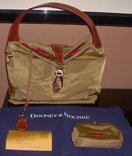 NWOT DOONEY & BOURKE Khaki Nylon Hobo Logo Lock