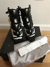 Authentic Giuseppe Zanotti Cruel Summer Wing Sandals in Nero/Black size 37