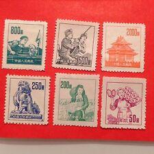 "1953 CHINA, R6, Scott#177-82, Complete Set,""Scenes Of Life"", Postage Stamp,*MNH*"