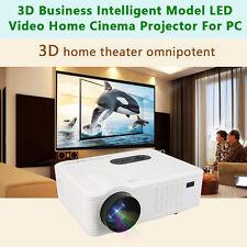 Full HD 1080P 6000 Lumens LED LCD VGA HDMI TV Home Theater Projector Cinema EC