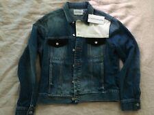NEW PROTOTYPE Calvin Klein Classic Trucker Colorblocked Jacket Keeling Patch M