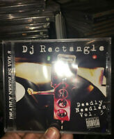 DJ RECTANGLE Deadly needles 3 NEW SEALED MIX CD 💿 ,