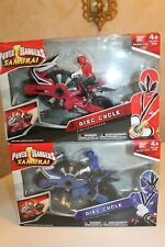 Power Rangers Samurai Disc Cycle Red and Blue (Sealed) Complete #31550 Lot of 2