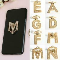 New 360° Rotate Metal Letter Diamond Finger Ring Stand Holder For Phone L8S A6C8