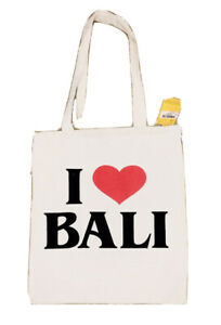 I ❤️ Bali - Sturdy Cotton Shopping Tote Bag Indonesia. Light weight