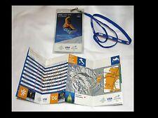 Porta badge da collo più pieghevole informativo VISA per Olimpiadi TORINO 2006