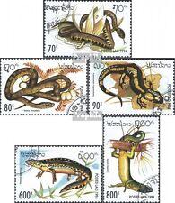 Laos 1414-1418 (kompl.Ausg.) gestempelt 1994 Reptilien und Amphibien EUR 3