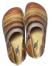 Spring Step Firefly Shoes Colorful Striped Size Leather Clogs Shoes 6 / 36 New