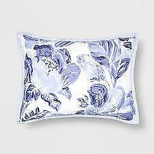 "Opalhouse Floral Print Tufted Standard Pillow Sham 20"" x 26"" - Blue"