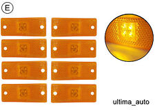 8 pcs 24V 12v ORANGE AMBER LED SIDE MARKER LIGHTS LAMP INDICATOR TRAILER VAN