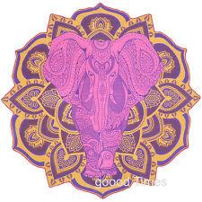 Roundie Dorm Round Tapestry Mandala Elephant Beach Throw Yoga Mat College Towel