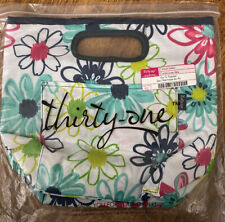 Thirty One Go To Thermal Lunch Box Bag Loopsy Daisy Flowers NEW