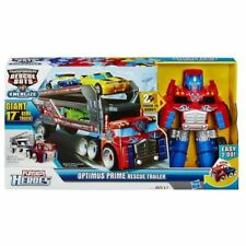 RARE TRANSFORMERS RESCUE BOTS ENERGIZE PLAYSKOOL HEROES OPTIMUS PRIME TRAILER