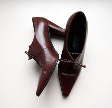 Stuart Weitzman para Russel & Bromley Zapatos Botas al Tobillo Tacones De Cuero Marrón 3.5