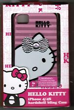 NEW IN BOX Hello Kitty Sanrio iPhone 4/4S Hardshell Bling CASE! PINK