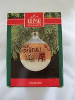 1990 Hallmark Christmas Keepsake Glass Ball Ornament Grandmother QX2236 NIB